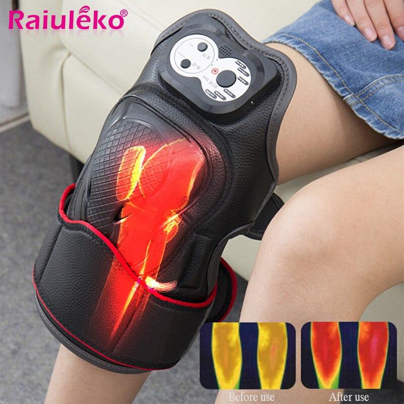 Electric Knee Massage Rehabilitation Equipment Magnetic Vibration Heating Massager Knee Joint ...