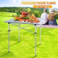 70x70cm Tragbare Faltbare Camping Tisch Im Freien Möbel Computer Bett Tische Picknick Aluminium Legierung Ultra Licht Klapp Schreibtisch