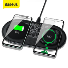 Baseus Visible Qi Wireless Charger 15W For Huawei P30 Pro Dual Wireless Charging Set For iPhone 11 Pro Max Xs Xr X 8Plus AirPods