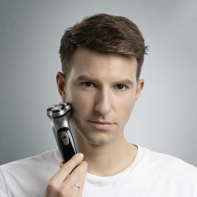 شاومي ماكينة حلاقة الوجه الكهربائية Enchen BlackStone ثلاثية الأبعاد آلة كهربائية الرجال الحلاقة اللحية قابل للغسل USB نوع-C قابلة للشحن للهدايا