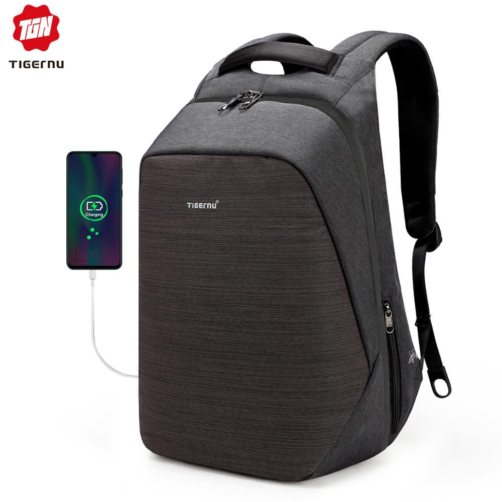 Casual Multi USB Charging Men 15inch Laptop Backpacks For Teenager Fashion Male Mochila Travel Anti Thief Schoolbag Backpack