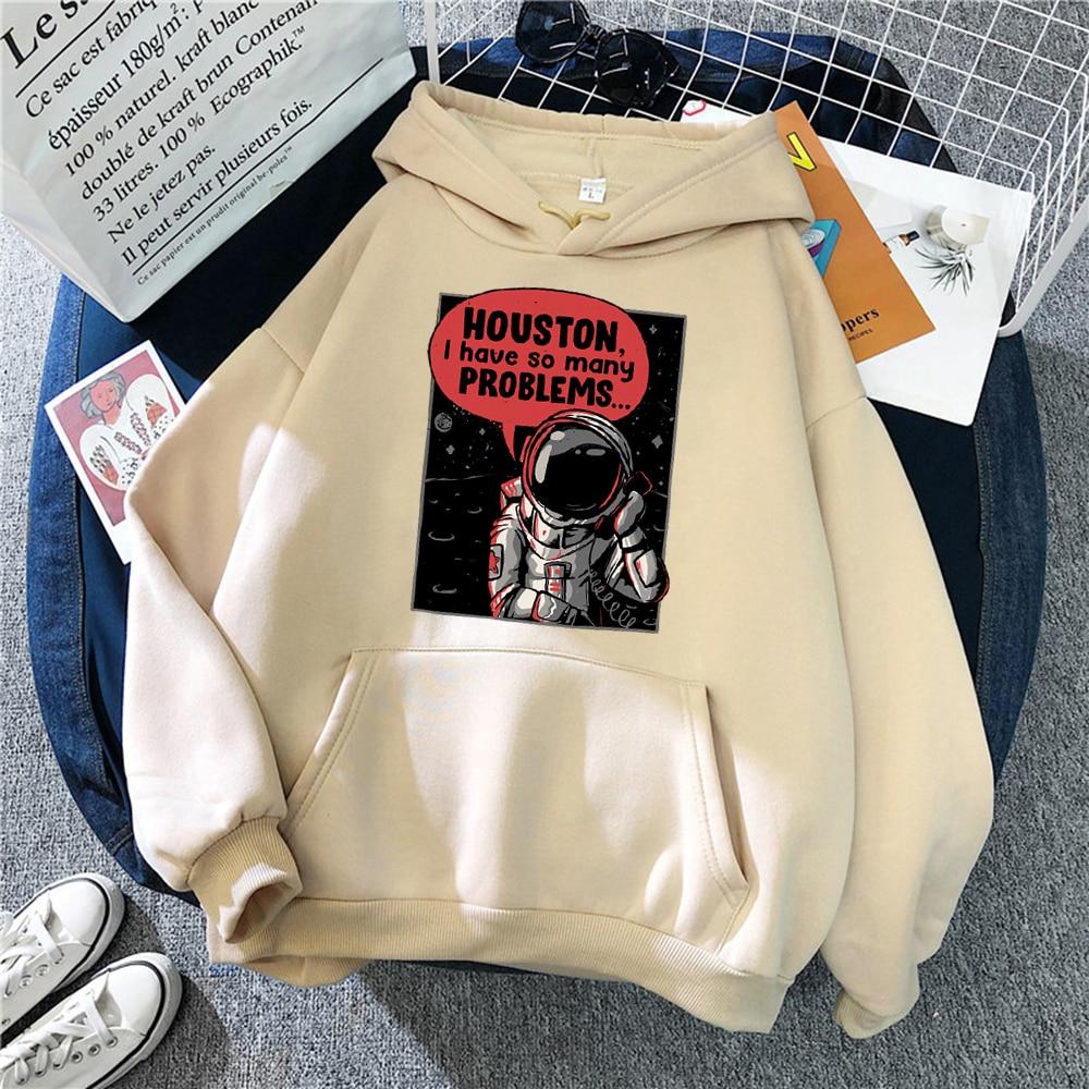 Call From Space Astronaut Fashion Print Men Hoodies Casual Harajuku Hoody Autumn O-Neck Streetwear Fleece Warm Loose Pullovers
