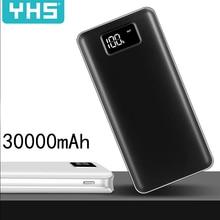 Внешний аккумулятор 30000 мАч для Xiaomi Mi 2 USB power Bank портативное зарядное устройство Внешний аккумулятор повербанк для iPhone samsung huawei