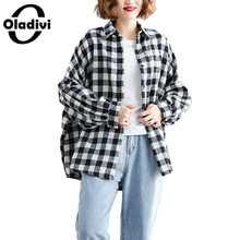 Shirts Blouses Tops Oladivi Plus-Size 5XL Woman Fashion Spring Autumn 6XL Blusas Loose