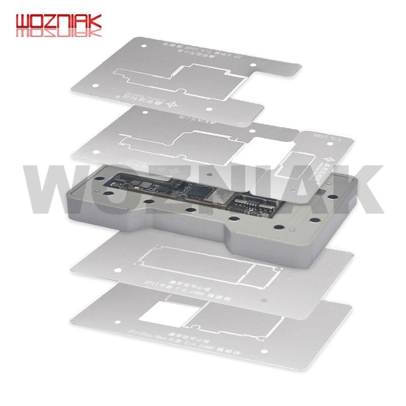 6in1 Mainboard Layered Fixture For Iphone X Xs Xsmax 11 11pro 11promax 3D BGA Reballing Stencil Plant Tin Platform Repair Net