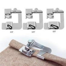 13-25mm Domestic Sewing Machine Foot Presser Hem Crimping Feet for Brother Singer Sewing Accessories