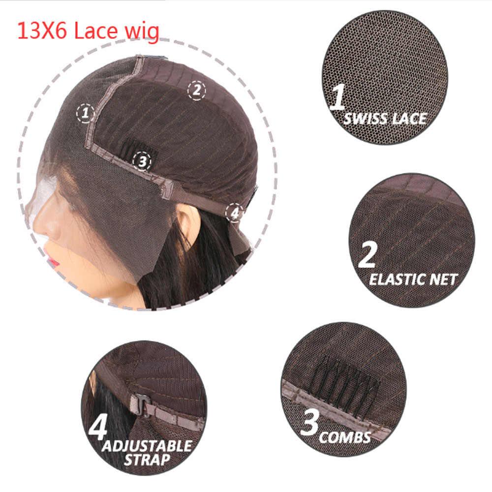 13x6 perucas do cabelo humano da parte dianteira do laço pré arrancadas para as mulheres malaio onda profunda 13 × 6 peruca frontal do laço com cabelo do bebê remy cabelo
