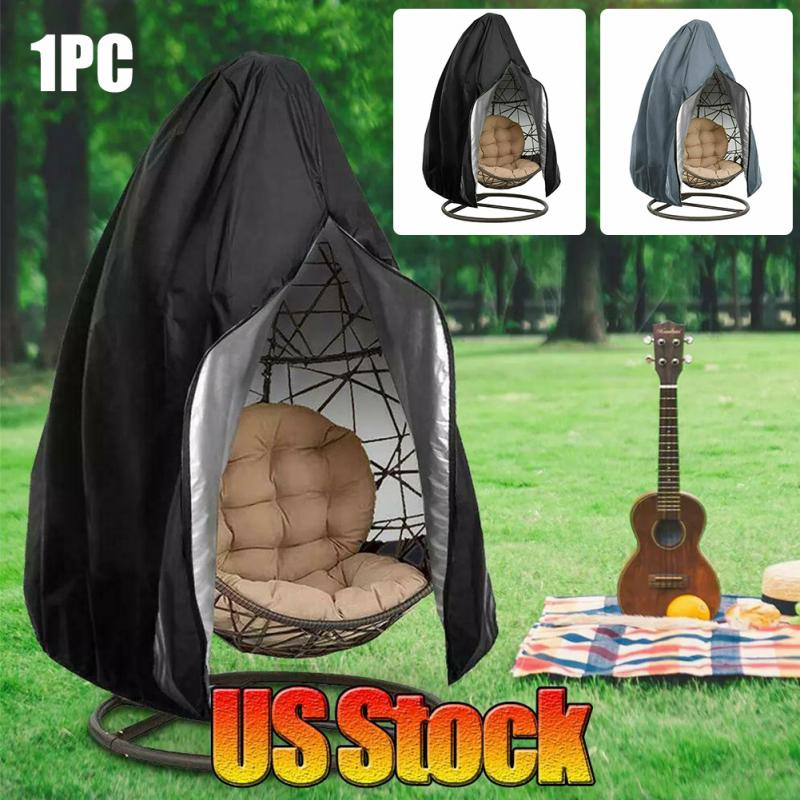 Outdoor Egg Wicker Anti UV Patio Garden Swing Chair Cover Hanging Hammock Stand Zipper Closure Waterproof Dustproof Washable(China)