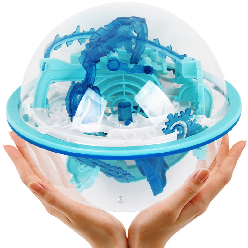 110 Level Challenge Obstacle Magic Maze Ball Game Screw Advanced Intellectual Ball 3D Flying Saucer Maze Ball Puzzle