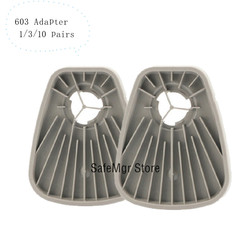 603 ガスマスク呼吸器フィルターアダプタで動作 3 メートル 6200 7502 6800 と同じ 3 メートル 603 フィルター綿 5N11 アダプタペイント
