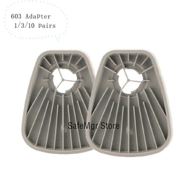603 قناع واقي من الغاز تنفس مهايئ المرشح يعمل مع 6200 7502 6800 العمل كما الأصلي 603 محول القطن 5N11 محول الطلاء