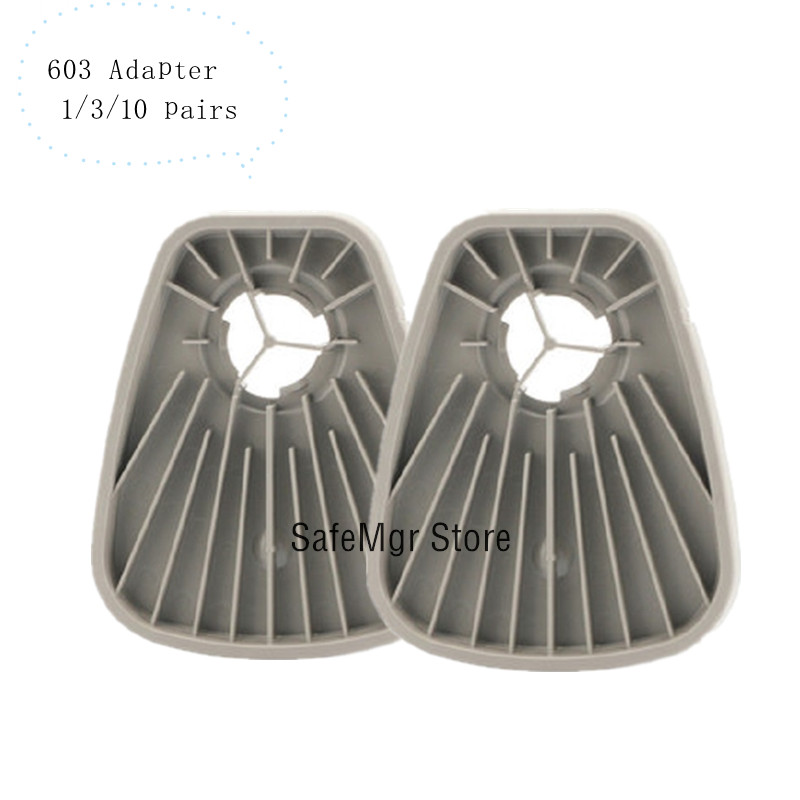 603 Gas Mask Respirator Filter Adapter Work With 3M 6200 7502 6800 Same As 3M 603 Filter Cotton 5N11 Adapter Paint