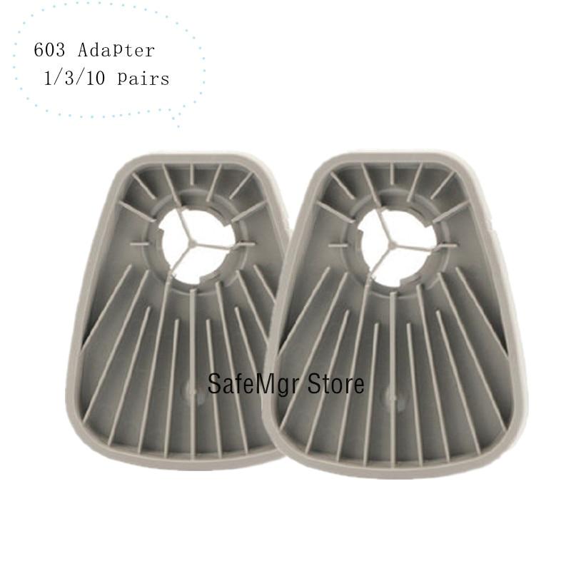 603 Gas Mask Respirator Filter Adapter Work With 6200 7502 6800 Work As Original 603 Adapter Cotton 5N11 Adapter Paint