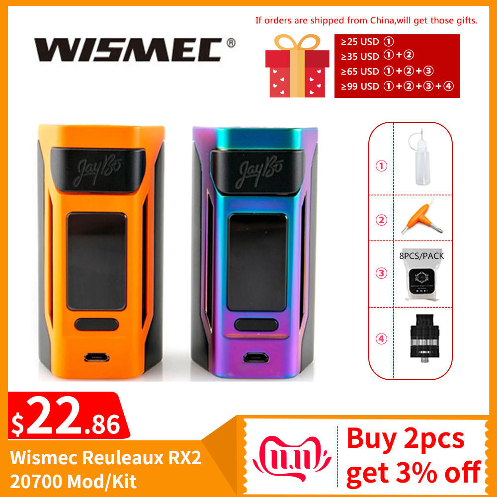 [RU/ES] Original Wismec Reuleaux RX2 20700 TC Box Mod/RX2 20700 Kit 4ml Output 200W VW/TC/TCR Mode VS Gen3 Dual Vape Mod E-Cig