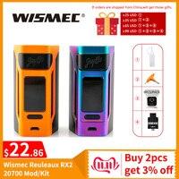 [RU/ES] Original Wismec Reuleaux RX2 20700 TC Box Mod/RX2 20700 Kit 4ml Output 200W VW/TC/TCR Mode VS Gen3 Dual Vape Mod E Cig