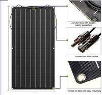 solar panel 300w 200w 100w 400w 18V 24V flexible solar panel For 12V battery charger Monocrystalline cell 1000w home system kit