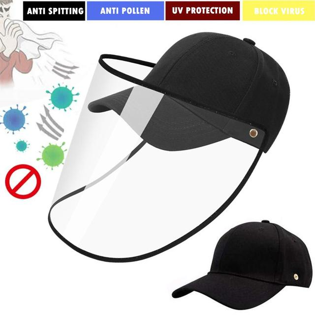 Detachable Cap with Face Cover Protective Unisex Watches / Sunglasses / Caps color: Black A|Black B|Black C|Black D|Black E|Black F|red A|red B|White A|White B|White C|White D
