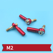 DIY Metal M2 Ball Joint L20mm 2mm Ball Head Linkage Pushrod Ball Head Buckles Mini Steering Pull Rod End for RC Cars Connecting hot 2pcs m5 m6 m8 m10 ball head rod end joint bearing set white zinc coated right hand bearings for auto car ball connecting rod