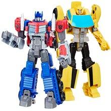 12 см Трансформеры коммандер фигурки Megatron Bumblebee Optimus Prime Трансформация Робот автомобиль игрушки мальчик дети подарок на день рождения