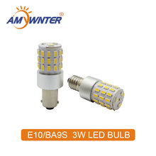 AMYWNTER 12V Car ba9s led 24v bulbs for t4w ba9s led canbus 3W power Interior Bulbs Reading Light Car Light Sourse(China)