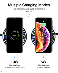 Image 4 - Qi Fast Charging Pad For Huawei Mate 30 pro 5G Mate 20 RS Porsche Design P30 Pro Honor V30 Pro Wireless Charger Phone Accessory