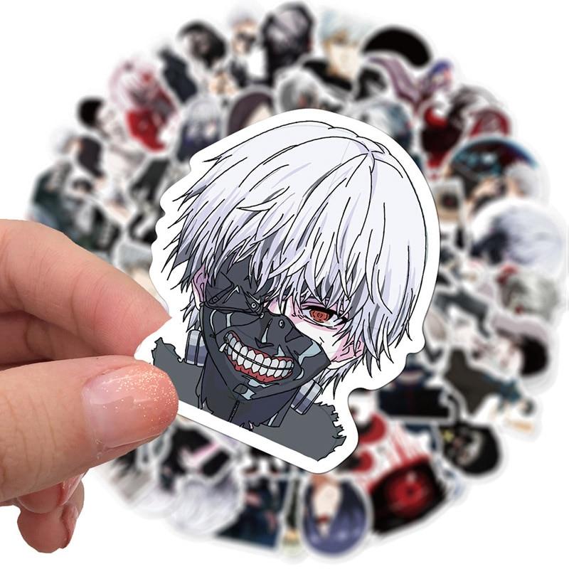 10/50 adet Tokyo Ghoul Anime çıkartmalar karikatür serin çocuklar gitar kaykay bagaj Laptop kask su geçirmez grafiti Sticker oyuncaklar