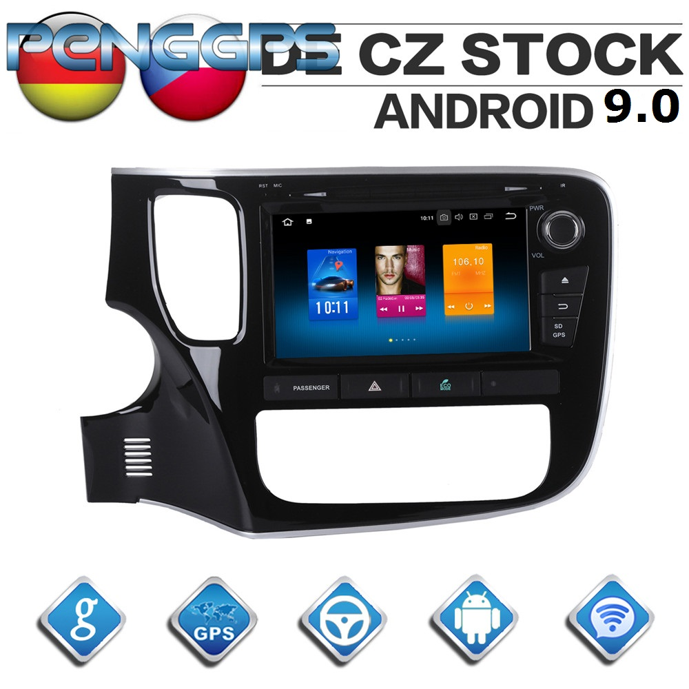 8 Inch 4G 32G Octa Core DVD Player Android 9 0 Car Radio for Mitsubishi Outlander