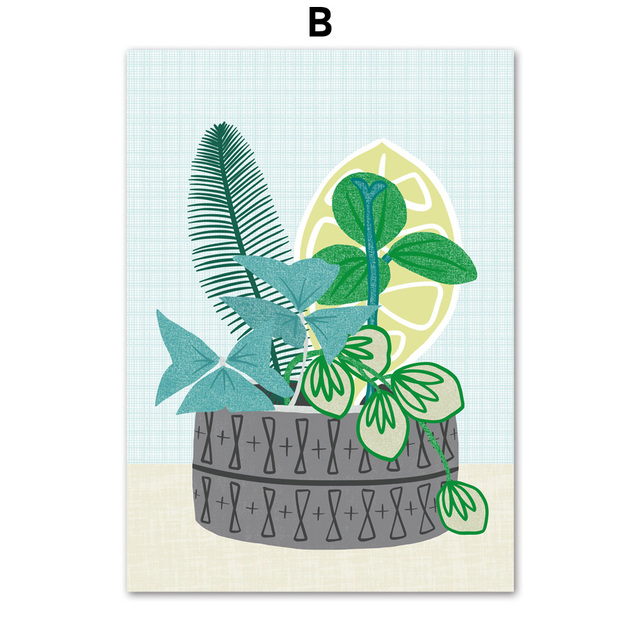 Potted Plant Nursery Wall Art