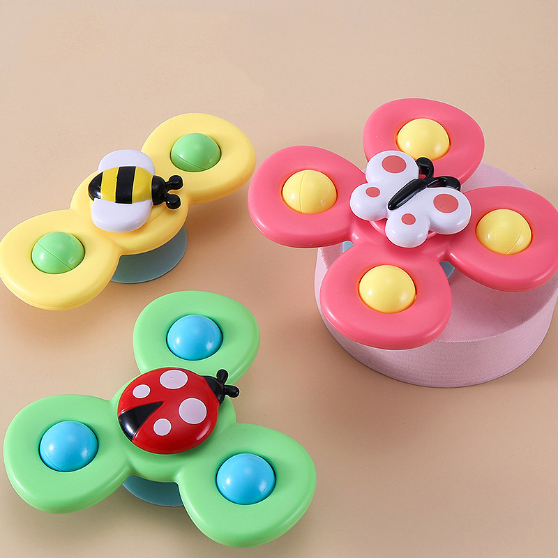 Spinner-Toys Bath-Toys Gyro Fidget Baby Cartoon Relief-Stress Colorful ABS Insect img4