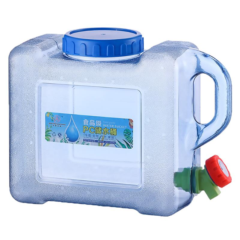 5L Capacity Outdoor Water Bucket Portable Driving Water Tank Container With Faucet For Camping Picnic Hiking