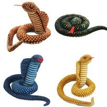 110 см мягкая модель Длинная кукла со змеиным животным реалистичным боа Детская плюшевая игрушка креативный подарок на день рождения стул декоративный, плюшевый игрушка