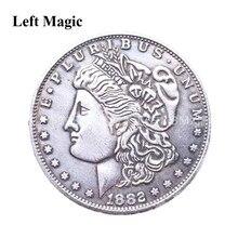 1PC magnetyczna miedź Morgan monety magiczne sztuczki magik bliska ulica sztuczka rekwizyty iluzja akcesoria śmieszne