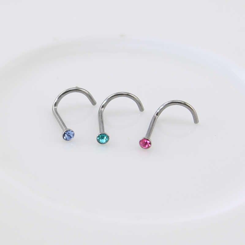 ZS ארוך סחוס עגילי האף טבעות לנשים Helix קונכיית גבות פירסינג Tragus מחץ לשון טבעת לגברים גוף אבזרים