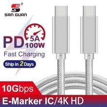USB3.1 Gen2 Kabel PD 100W 20 5A schnelle Ladung Typ C 3,1 Kabel USB C ZU C für mac Pro, dell notebook kompatibel thunderbolt 3