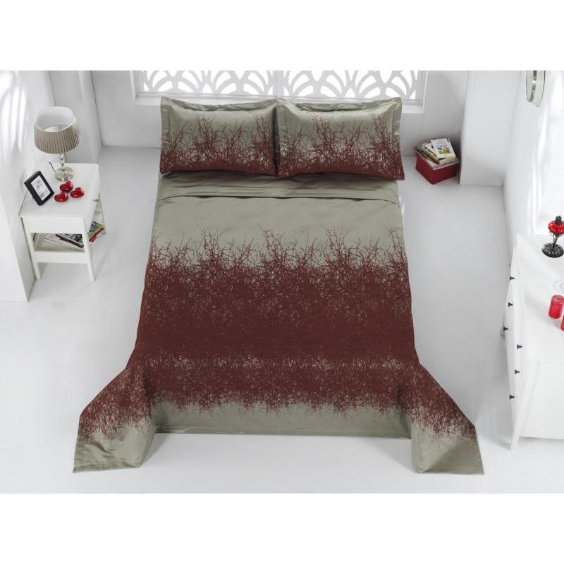 Bedspread double KARNA, FLORINA, 260*260 cm, Orange покрывало двуспальное karna florina 260 260 см лавандовый