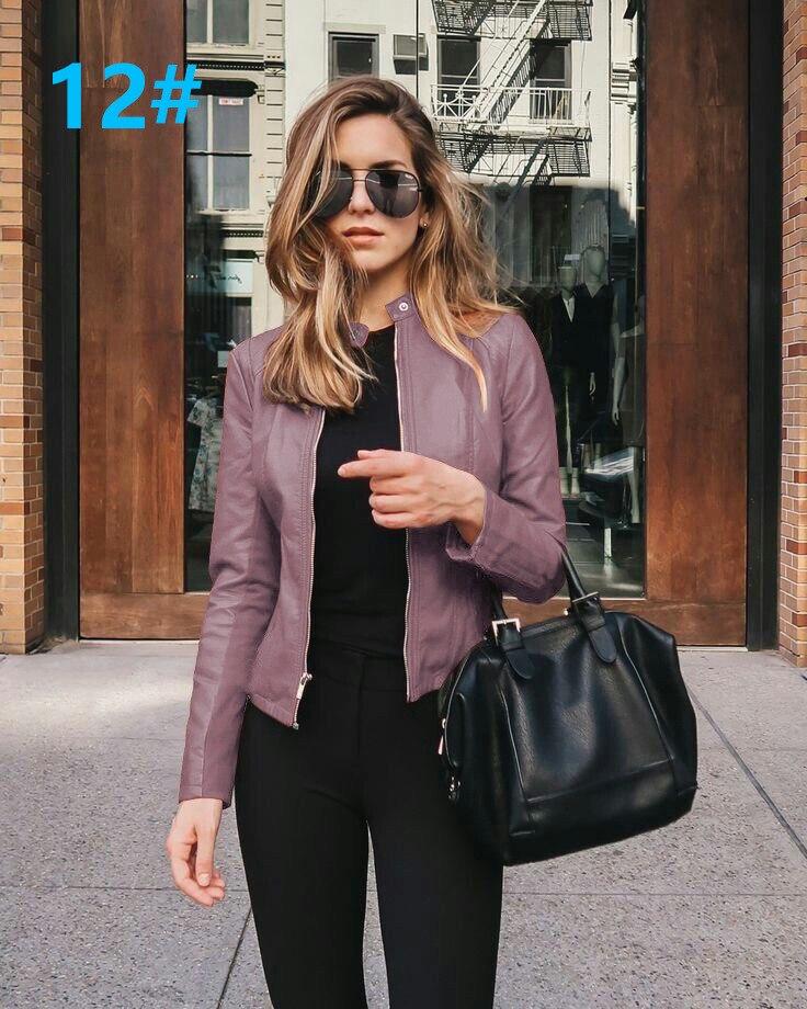 Hb60389b746934cd88c34c8f6201b4b485 2021 Women Winter Coat Jacket Thicken Fashion Long sleeve Outwear PU Leather Jacket warm Coats For Women Autumn Women's Clothing
