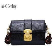 Женская брендовая Оригинальная дизайнерская маленькая сумка для девушек, женская сумка, новая модная повседневная квадратная сумка с пряжкой, сумка через плечо