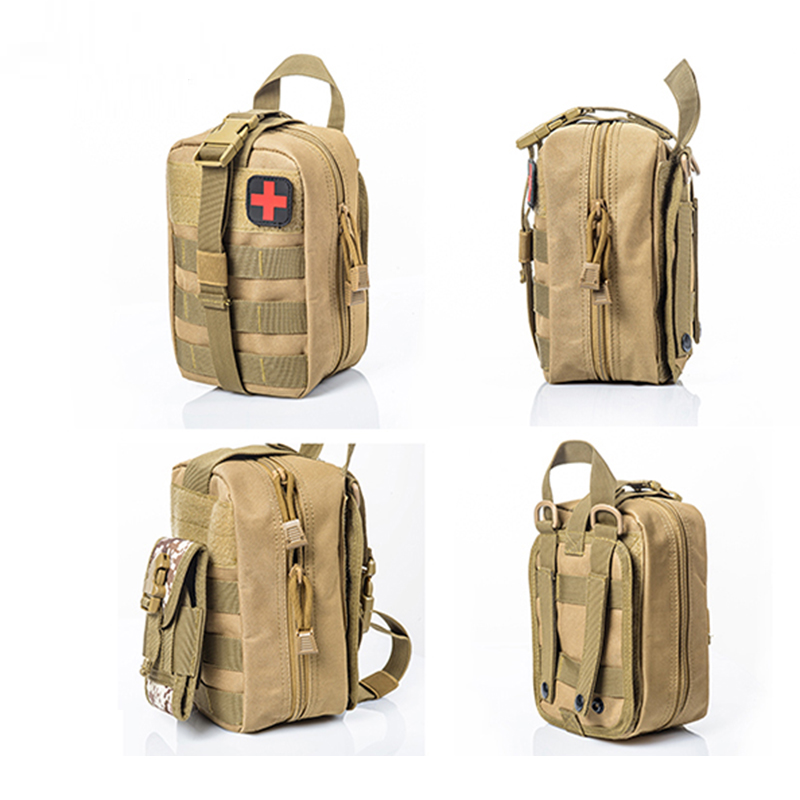 Portable Military First Aid Kit Empty Bag Travel Set Oxford Cloth Tactical Waist Pack Camping Climbing Emergency Medicine Bag