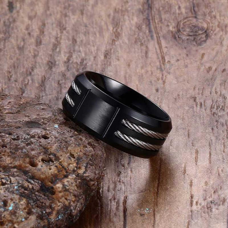 Винтажные кольца для мужчин с 12 комбинезоном на заказ Стрелец Aries Leo ювелирные изделия с созвездиями с черным из нержавеющей стали крученый WIA