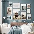 Природа Пейзаж Холст Картина скандинавский лес трава плакат скандинавский принт фотография стены искусство картина домашний декор