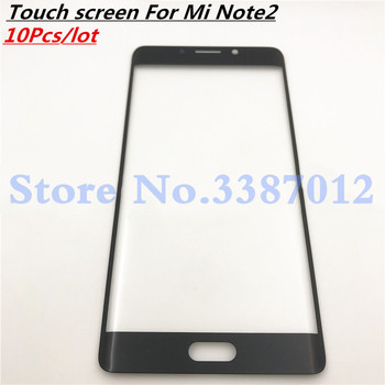 10Pcs/lot New Genuine Original Black For Xiaomi Mi Note2 Note 2 Front Glass Touch Screen LCD Outer Panel Lens Repair Part