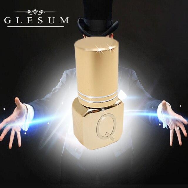 Glesum Gold Bottles Strong 0.5s, extensión de pestañas negras de secado rápido, pegamento Queen sin látex, adhesivo de baja irritación