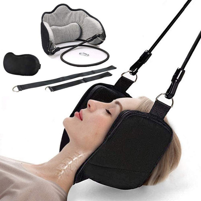 Hammock with stand for Neck Traction Massager Hamac cervicales to Reduce Neck Pain Relief Relaxation with Free Eye Mask