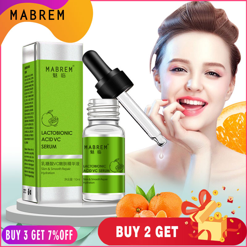 MABREM  Lactobionic Acid VC Tender Serum Effectively Removes Keratin And Blackhead Repair Serum Face Ance  Shrinking Pore Care