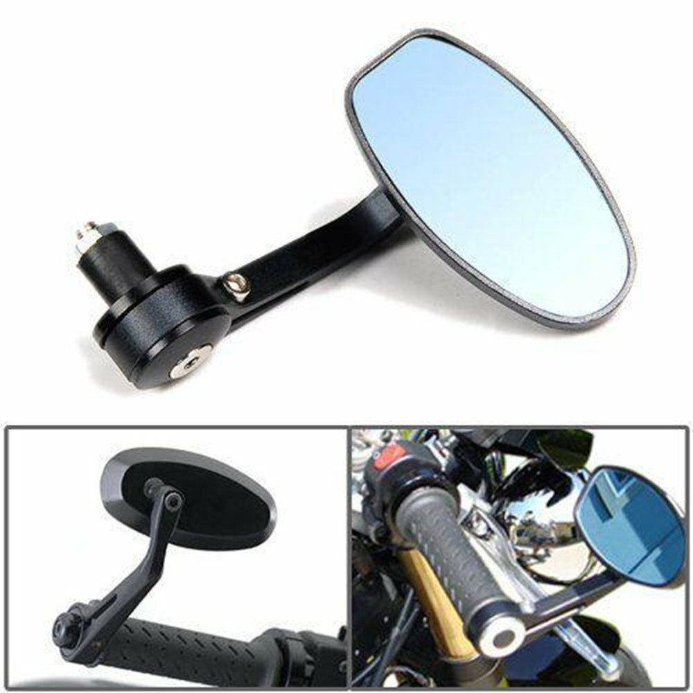 2Pcs Universal Motorcycle 7/8 inch Handle Bar End Mirrors For HONDA SUZUKI YAMAHA CAFE RACER Motorcycle Accessories|Side Mirrors & Accessories| |  - title=