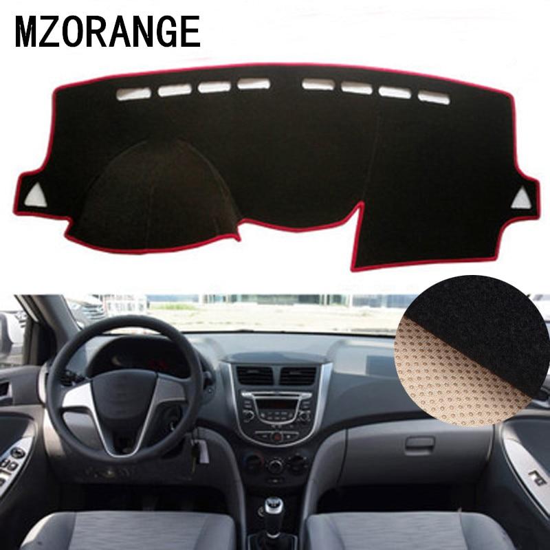 Dashboard Cover For Hyundai Solaris/Accent/Verna 2012 2013-2015-2017 Sun Shade Dash Board Anti-slip Dash Mat Pad Dashmat Cover