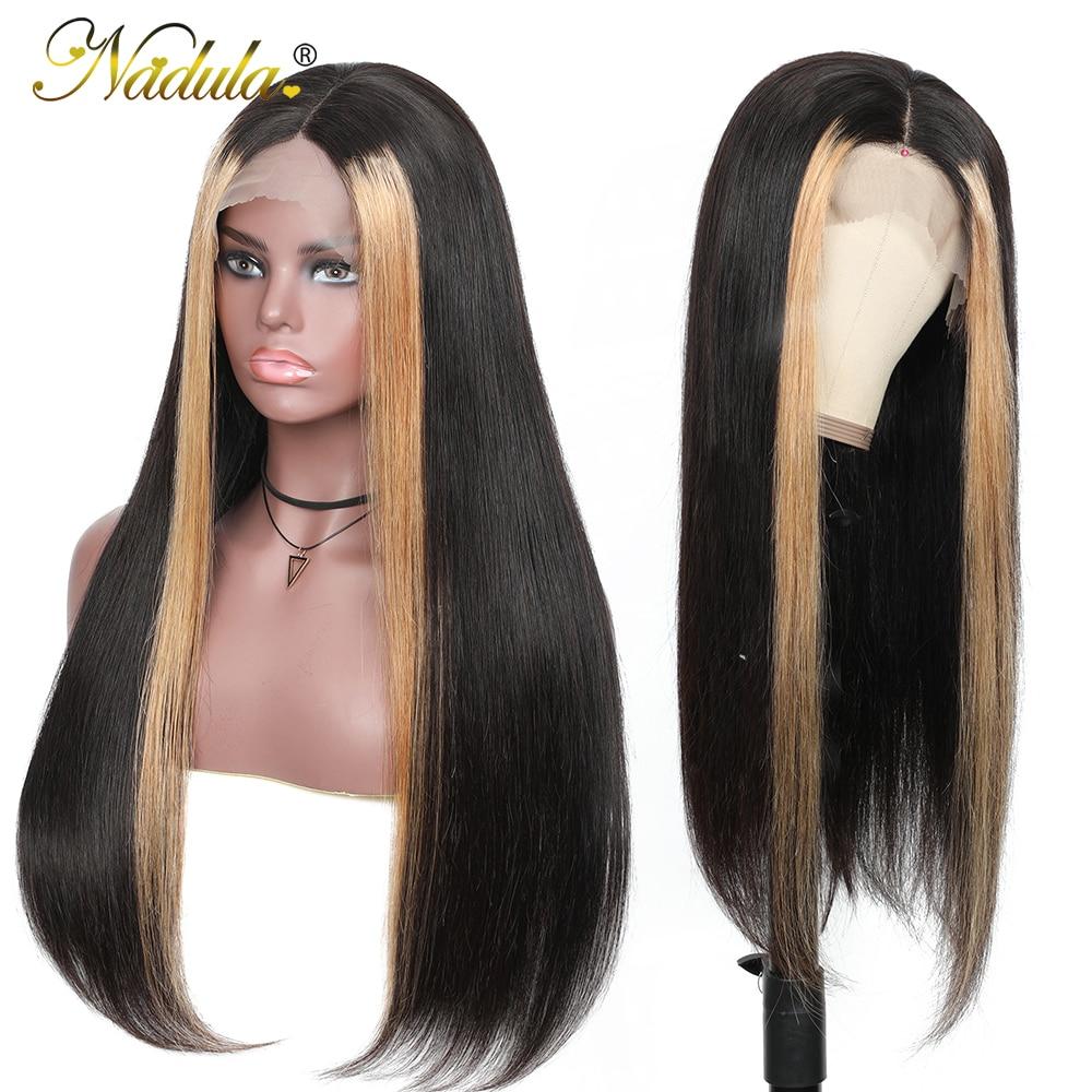 Nadula Hair 13x4 Straight Hair Highlight Lace Front Wigs  Ombre Lace  Wig  Straight Hair Ombre Wig 5