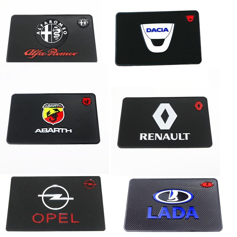 1x Car Interior Sticker Anti Slip Mat For Renault LADA Opel SAAB Daewoo Alfa Romeo Accessories Styling Dashboard Pad