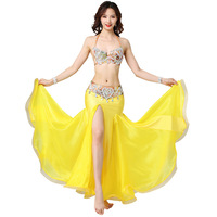 Belly dance costume wear stage performance Women Belly dancing Bra Belt skirt set New Arrival Halloween 3pcs suits