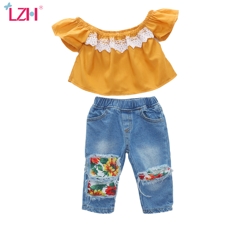 Baby Girl Clothes Sets Summer Toddler Girls Clothes T-shirt+Jeans   2Pcs Outfits Kids Clothes For Girls  Suit Children Clothing 1
